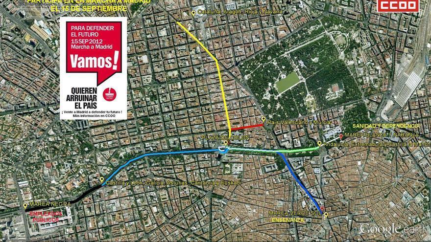 Las marchas del 15-S recorren las calles de Madrid