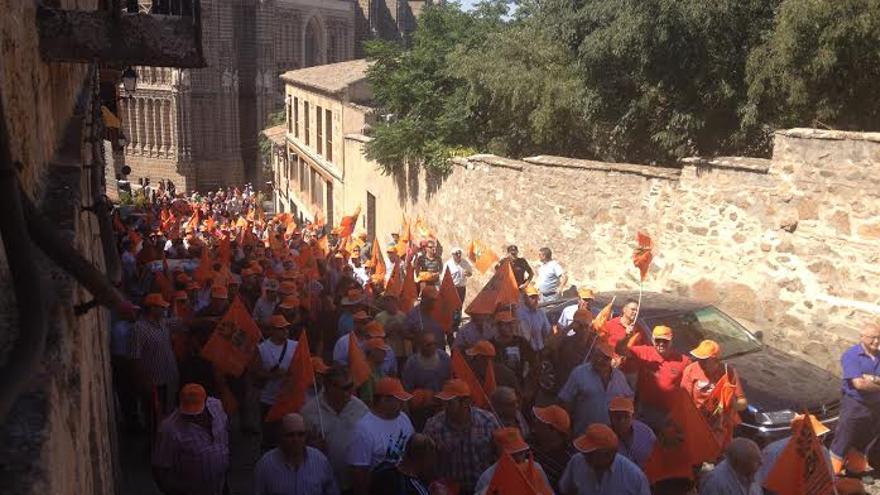 Manifestación en defensa del vino. / Foto: Javier Robla
