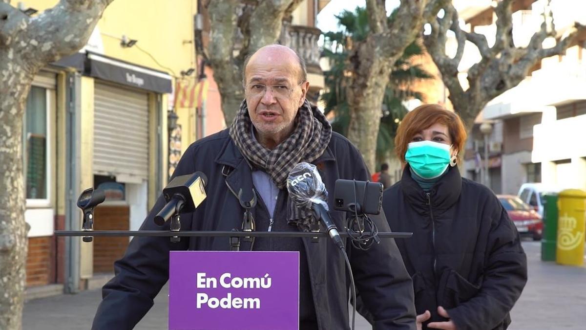 El número dos de los comuns a las elecciones catalanas, Joan Carles Gallego