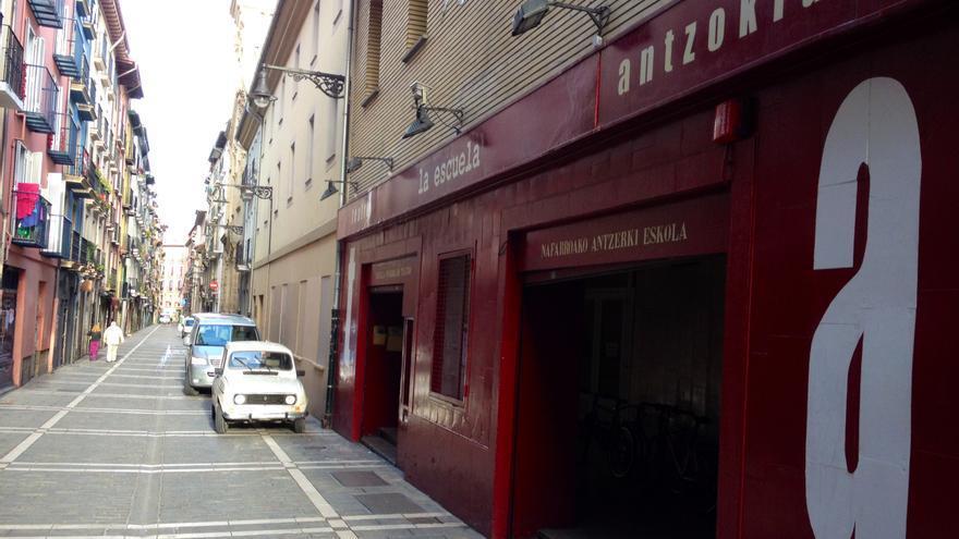 La entrada a la Escuela Navarra de Teatro.