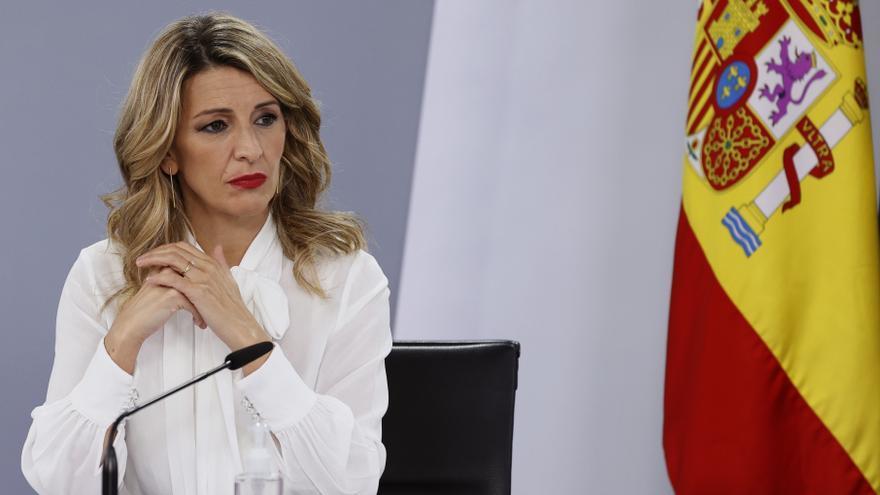 La vicepresidenta tercera del Gobierno y ministra de Trabajo y Economía Social, Yolanda Díaz. EFE/Ballesteros/Archivo