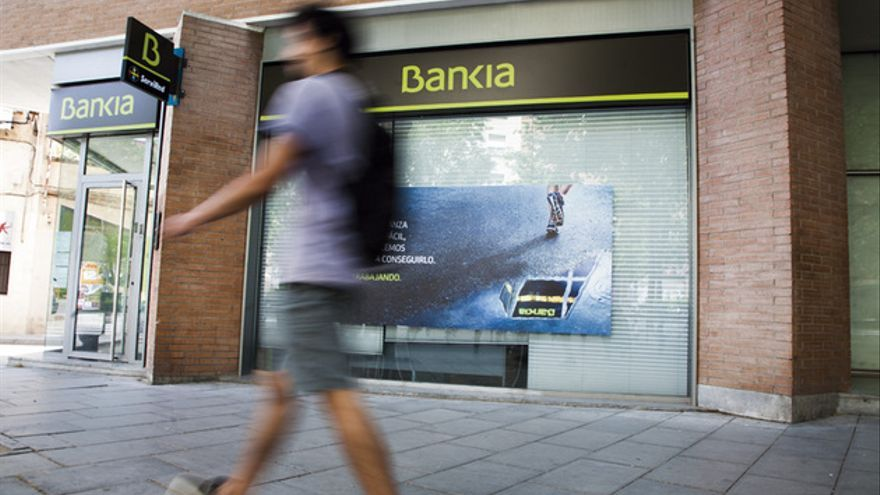 Una oficina de Bankia en Barcelona. La entidad fue nacionalizada en mayo de 2012. FOTO: ANDREA BOSCH