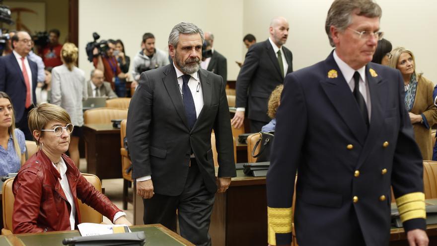 Daniel de Alfonso, a su llegada a la Comisión de investigación sobre el uso partidista del Ministerio del Interior