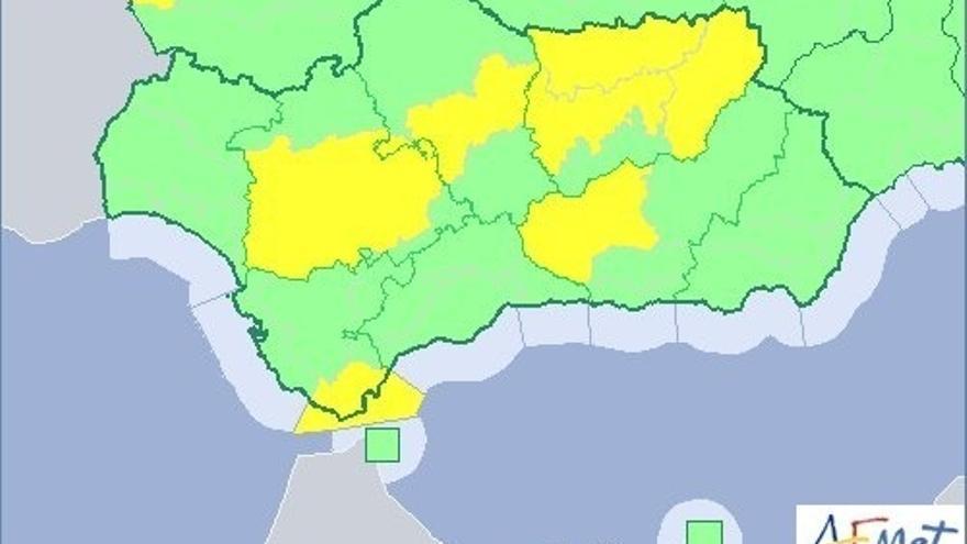 Avisos de nivel amarillo este martes en Córdoba, Jaén, Sevilla y Granada por máximas de hasta 39º