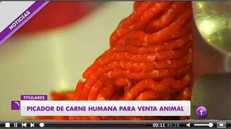 El picador de carne usado por Televisión Castilla-La Mancha para ilustrar un asesinato machista.