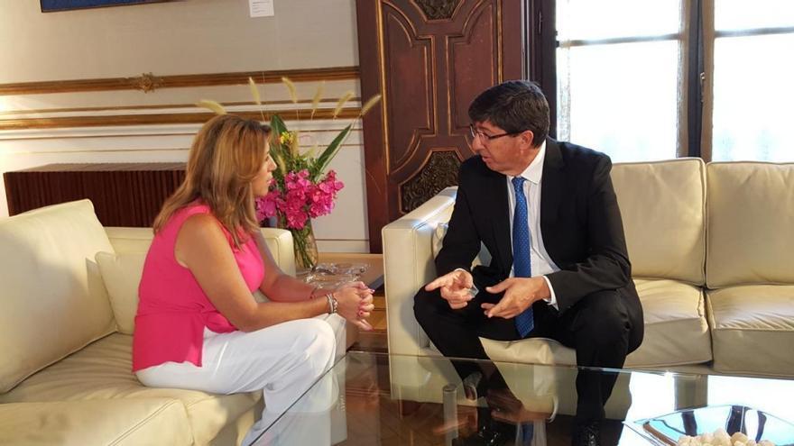 Juan Marín y Susana Díaz en su última reunión.