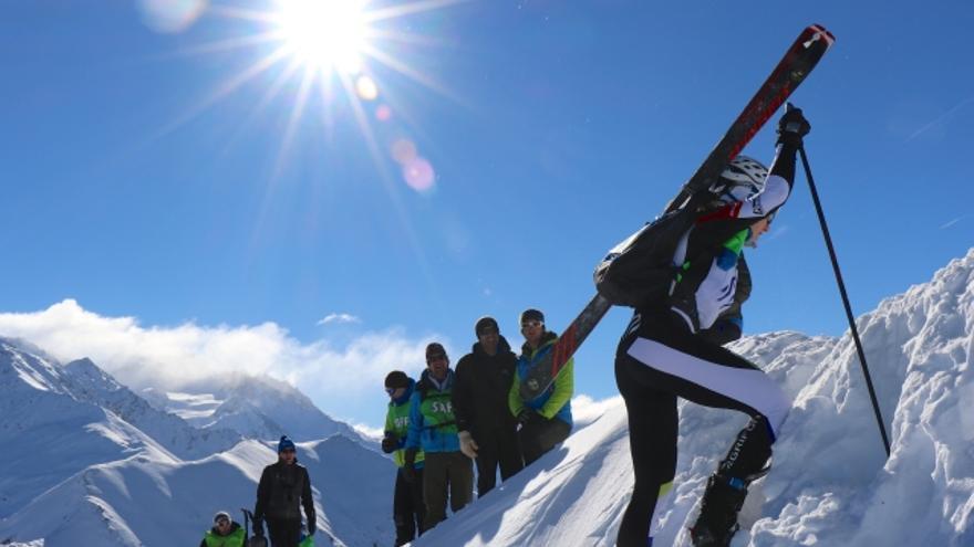 Campeonatos del Mundo de Esquí de Montaña en Verbier.