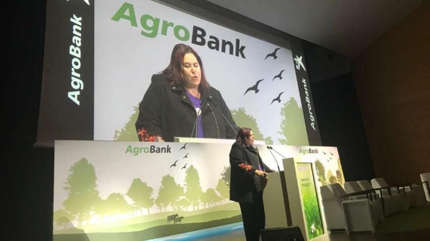 La consejera de Medio Ambiente y Rural, Políticas Agrarias y Territorio, Begoña García Bernal, en las jornadas de Agrobank