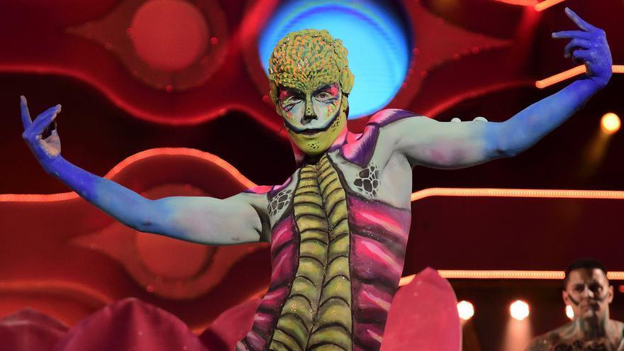 César Piñero, ganador del concurso de maquillaje corporal 2017