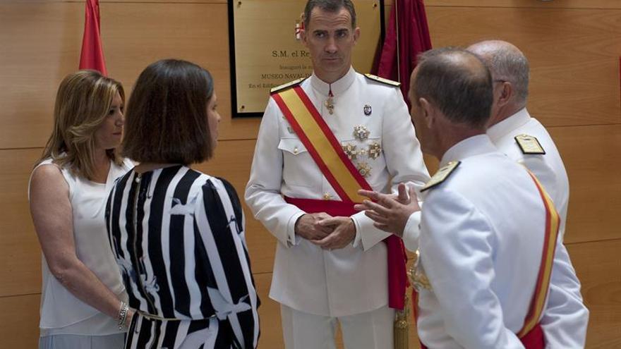 El Rey preside la entrega de Reales Despachos a nuevos sargentos de la Armada