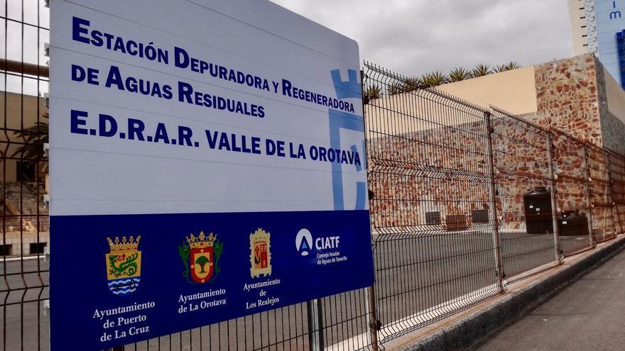 Imagen de la estación depuradora de Punta Brava, en Puerto de la Cruz
