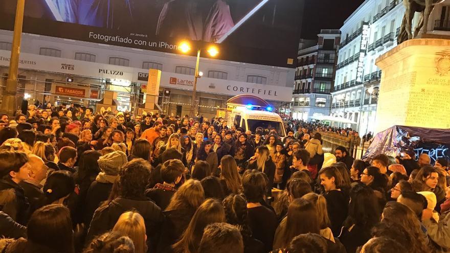 Manifestantes en Sol piden un justicia igual para todos
