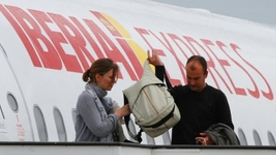 Iberia Express inauguró este martes la ruta entre Madrid y Lanzarote. (ACFI PRESS)
