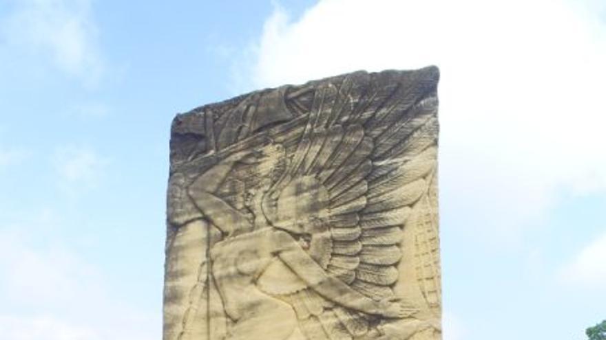 Monumento en honor a Juan de la Cosa en Turbaco, Colombia. En este lugar, situado a unos 20 kilómetros de Cartagena de Indias, murió De la Cosa en 1510 tras una escaramuza con los indígenas de la zona.