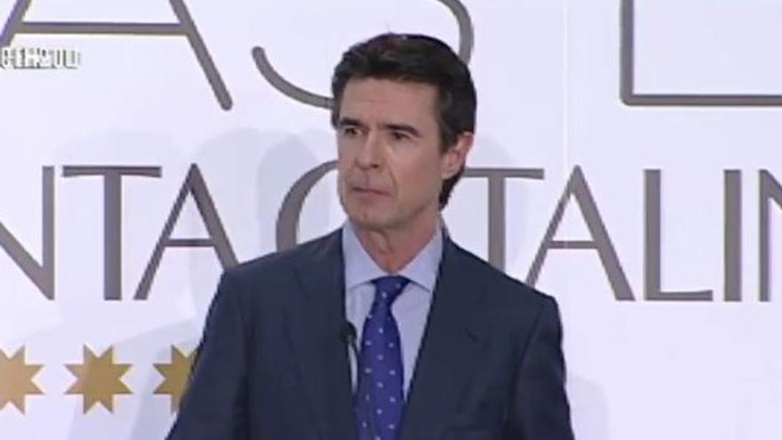 José Manuel Soria, en el debate de este martes.