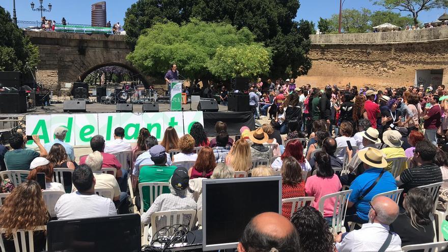 Imagen del acto celebrado hoy en Sevilla.