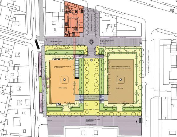 Distribución de la Plaza de la Villa de París tras la reforma | Imagen: Ministerio de Justicia