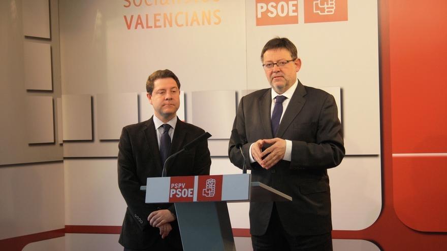 Emiliano García-Page y Ximo Puig, presidentes de castilla-La Mancha y la Comunidad Valenciana.