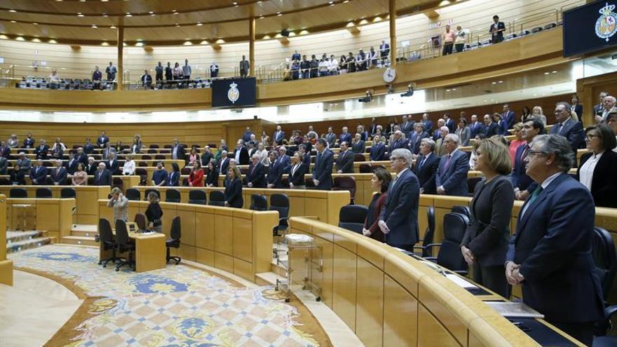 El Senado guarda un minuto de silencio por las víctimas de la violencia machista