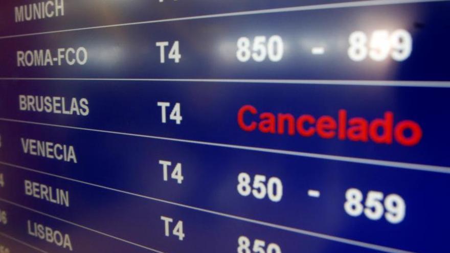 Los vuelos entre España y Bruselas siguen hoy cancelados