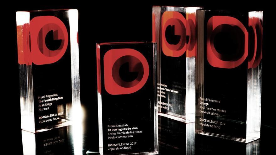 Trofeos de la última edición de Docs Valencia