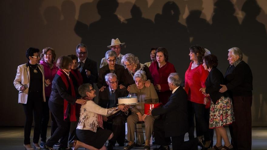 Obra de teatro protagonizada por mayores, en la Cidade da Cultura
