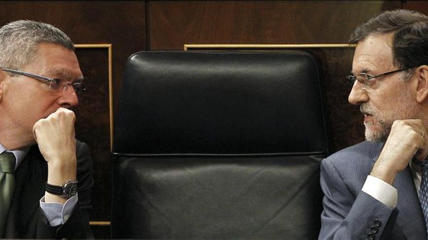 Alberto Ruiz-Gallardón y Mariano Rajoy, en una imagen reciente.