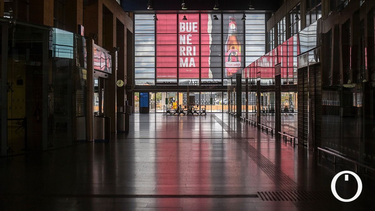 Estación de Renfe sin gente