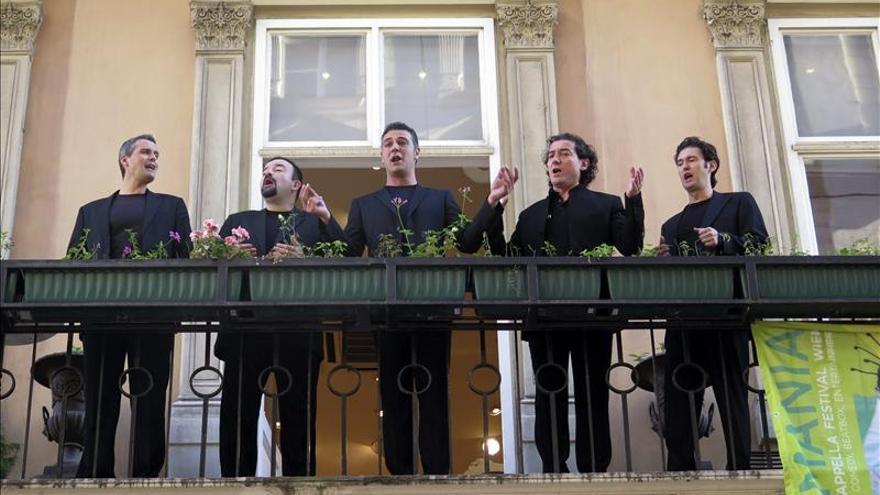 Los zaragozanos de B Vocal alzan la voz en el festival Voicemania de Viena