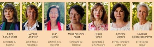 Estas son las siete mujeres 'apóstolas'