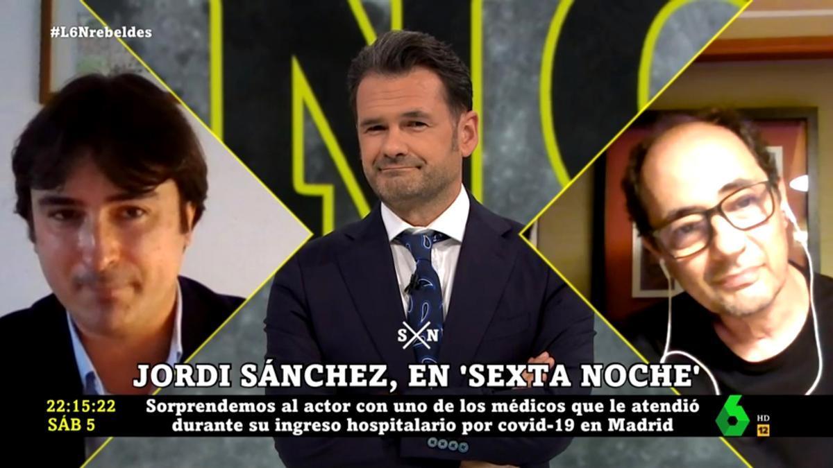 Iñaki López fue el anfitrión del reencuentro de Jordi Sánchez (dcha) y su médico (izq)