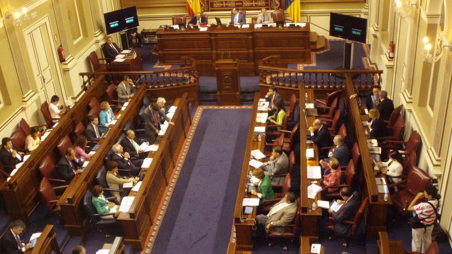 Pleno del Parlamento de Canarias en la XVIII legilstura.