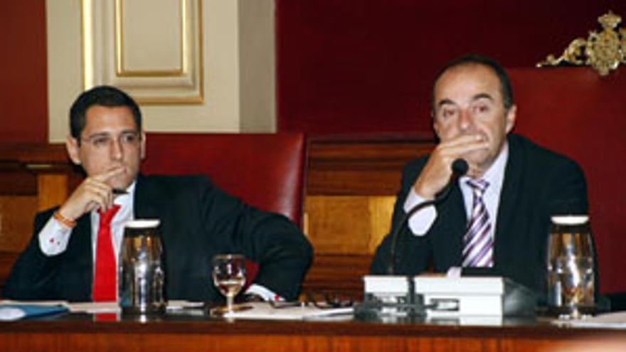 Ángel Llanos y Miguel Zerolo, en una imagen de archivo. (CANARIAS AHORA)