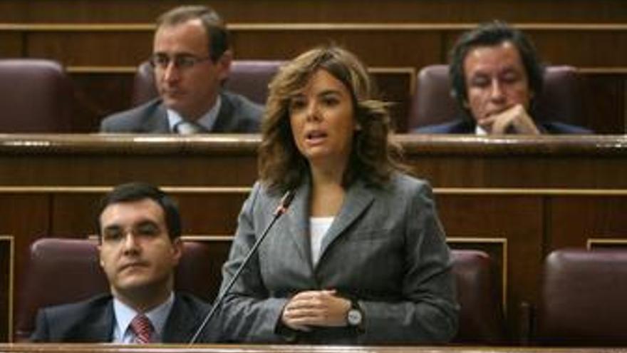 Soraya Saénz de Santamaría, en el congreso