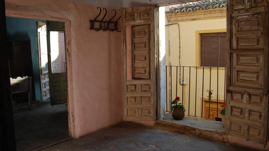 Un rincón de la casa de Paola Martínez en Lanaja, en Los Monegros.