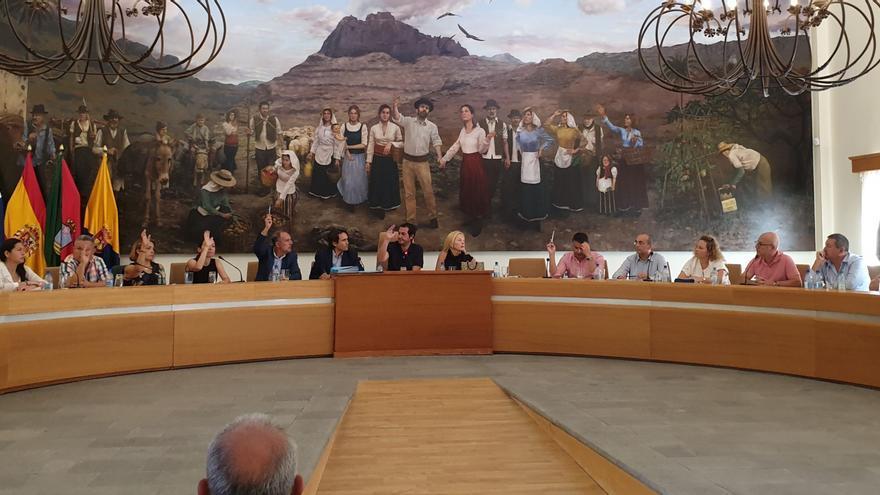 Pleno en el Ayuntamiento de Santa Lucía de Tirajana