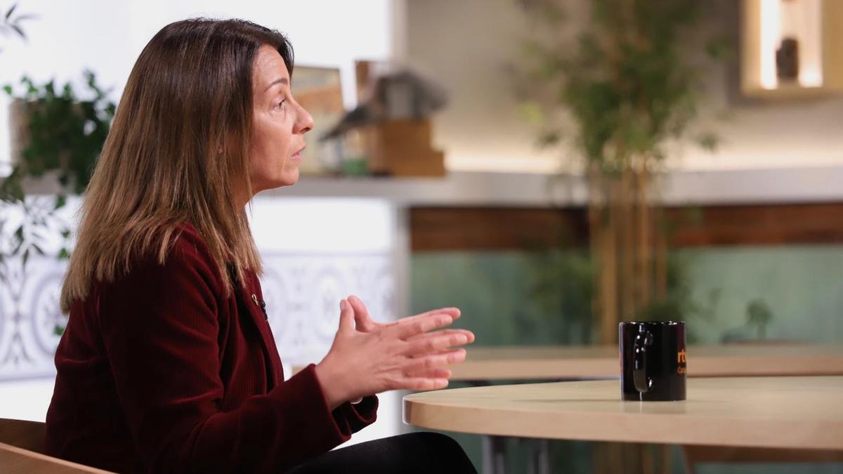 La consellera de la Presidencia y portavoz del Govern, Meritxell Budó, durante la entrevista.