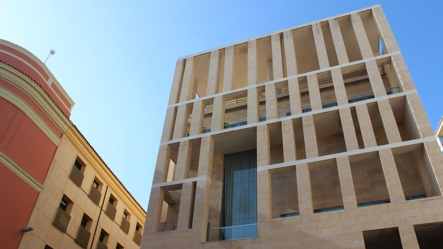 edificio anexo del de murcia diseado por el arquitecto rafael moneo pss