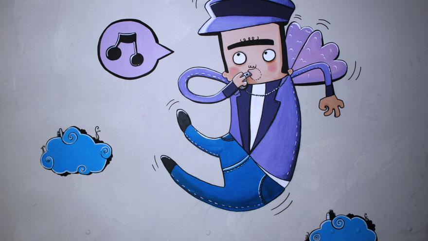 'Flying man', ilustración de Adrian Tombu / Vía Flickr CC