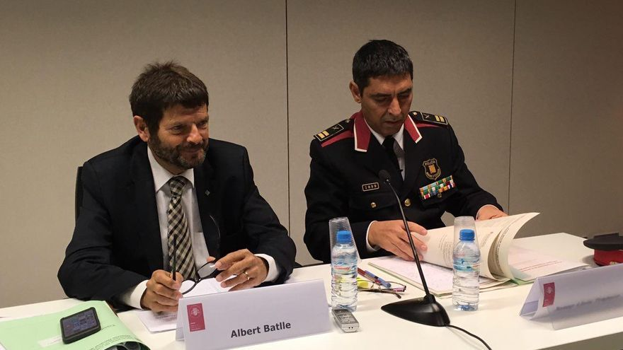 Albert Batlle, Director General de la Policía y Josep Lluís Trapero, Comissario Jefe de los Mossos d'Esquadra