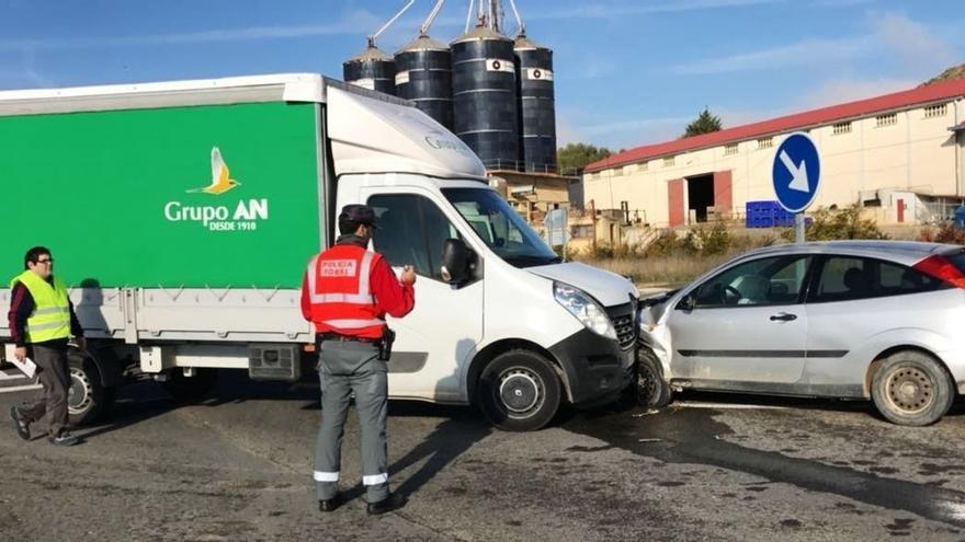 Un herido tras una colisión en Murillo el Fruto