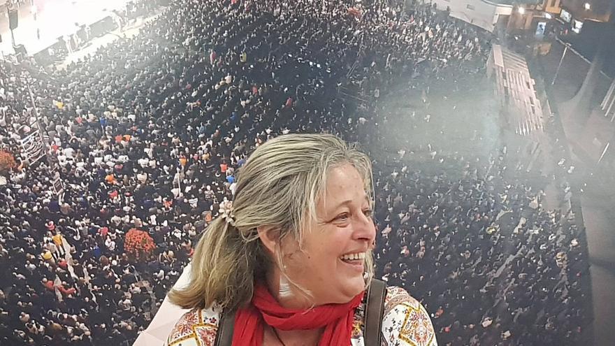 Leonor Castro, candidata a la Secretaría General de Podemos en Las Palmas de Gran Canaria.