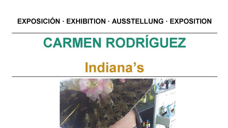 Cartel de la exposición de Carmen Rodríguez.