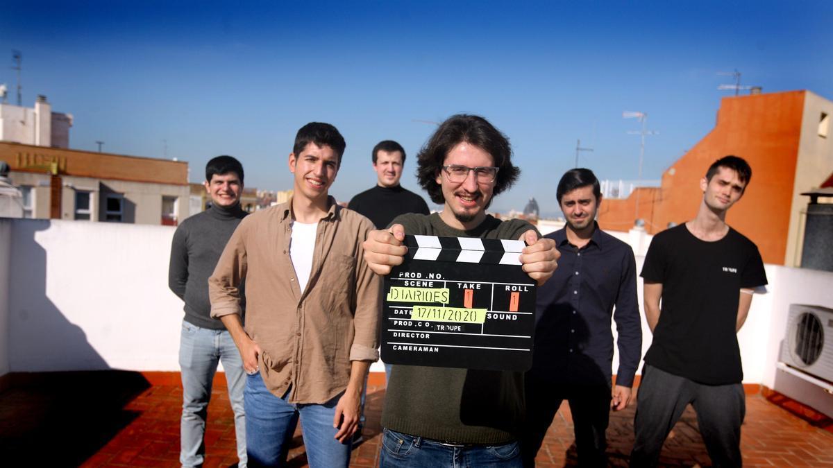 Karo Poghosyan, Borja Aracil, José Ramón Pinilla, Daniel Serra, Adrián Lluch y Pablo Font, de la Troupe. / Jesús Císcar