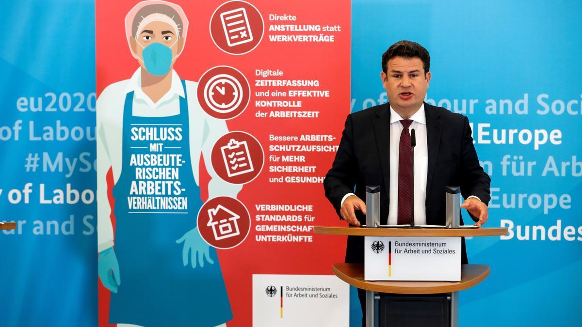 El ministro de Trabajo alemán, el socialdemócrata Hubertus Heil, en una imagen de archivo. EFE/EPA/FELIPE TRUEBA