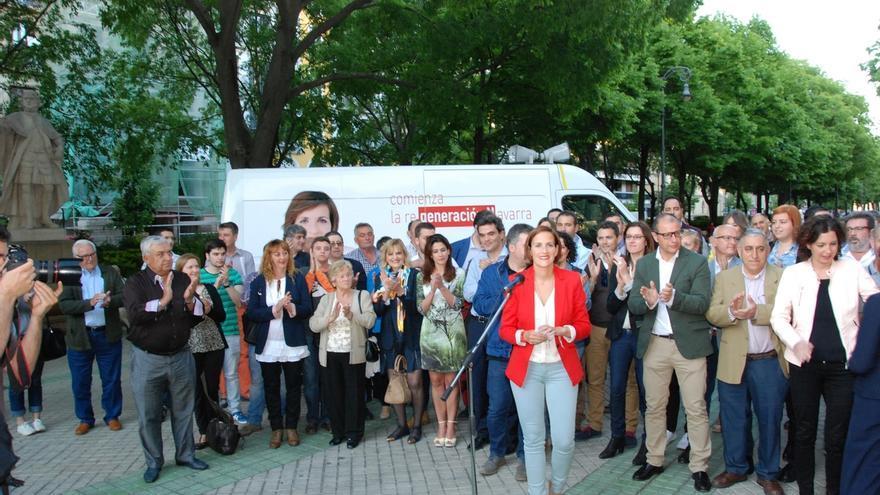 """Chivite dice que el 24M """"comienza en Navarra un nuevo tiempo"""" que el PSN quiere liderar"""