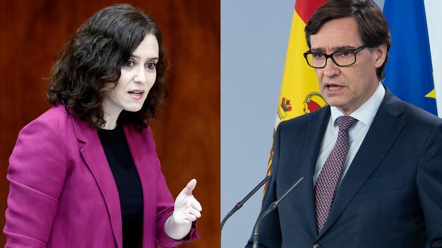 Isabel Díaz Ayuso y Salvador Illa