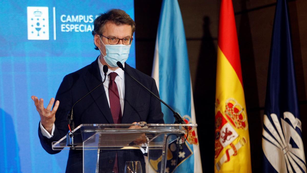 El presidente de la Xunta de Galicia , Alberto Núñez Feijoo . EFE/Kiko Delgado/Archivo