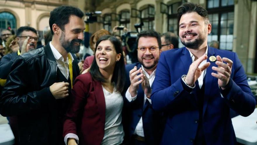 """ERC repite triunfo en Cataluña y celebra: """"El independentismo ha sentenciado"""""""