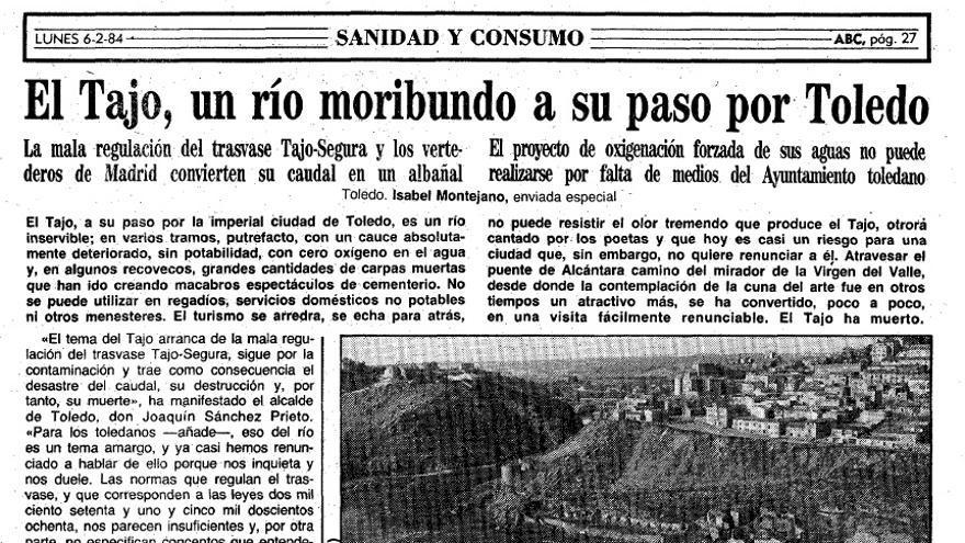 río tajo moribundo, 1984 ABC
